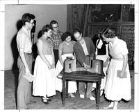 Rehearsal for a performance of Family Portrait