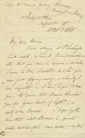 Letter from Edward Lear to Henry Bruce, October 18, 1865
