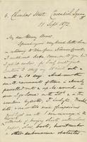 Letter from Edward Lear to Henry Bruce, September 11, 1872