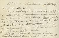 Letter from Edward Lear to Nora Bruce, February 13, 1875