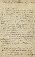 Letter from Edward Lear to Henry Bruce, June 6, 1875