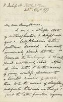 Letter from Edward Lear to Henry Bruce, August 23, 1877