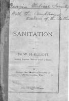 Address on sanitation