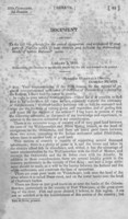 """Document relating to the bill """"to provide for the armed occupation and settlement of that part of Florida which is now overrun and infested by marauding bands of hostile Indians"""""""