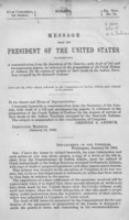 Message from the President of the United States transmitting a communication from the Secretary of the Interior, with draft of bill and accompanying papers
