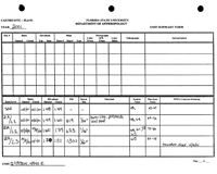 Castro Archaeological Unit Summary Forms