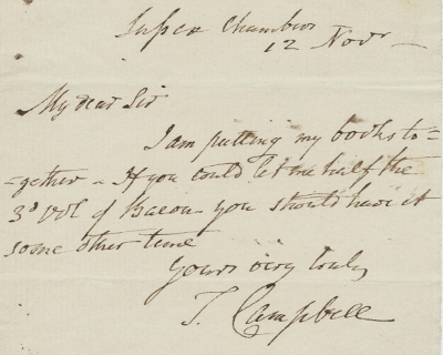 Thomas Campbell Letters