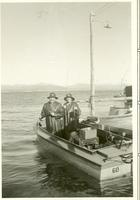 Claude and Mildred Pepper in a fishing boat