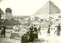 Claude and Mildred Pepper at the pyramids
