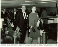 Claude and Mildred Pepper at an airport