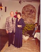 Claude and Mildred Pepper at Christmas party