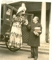 Claude and Mildred Pepper dressed in costumes during early Senate days