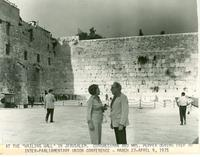 Claude and Mildred Pepper at the Wailing Wall