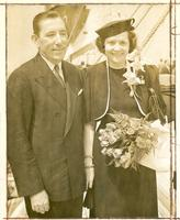 Claude and Mildred Pepper about to sail on the S.S. Washington to Europe