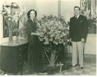 Claude and Mildred Pepper on their honeymoon