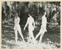 Three dancers outside