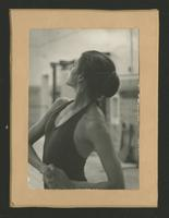Ballet dancer in profile