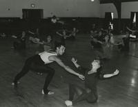 David Roche with dancers
