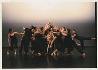 Group of dancers in black