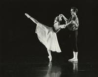 Jack Clark with female dancer in white skirt