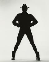 Silhouette of Jack Clark with hands on belt