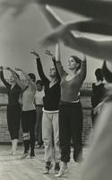 Dance class with arms up