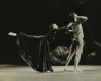 Woman performing arabesque
