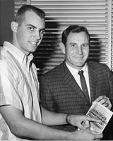 Football Captain Steve Klesius and Head Coach Bill Peterson, 1961