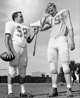 Senior Quarterback Eddie Feely and Sophomore Steve Tensi, 1962