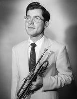 Calvin D. Hasbrouck with Trumpet