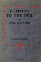 Petition to the Deil: and other war verses