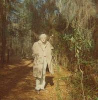Paul Dirac walking on a nature trail