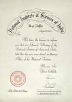 National Institute of Sciences of India Award