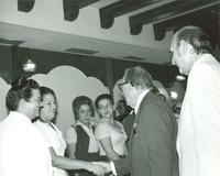 Claude Pepper meeting with employees at the Pan American Hospital