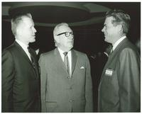 Claude Pepper with two men at the Legislative Reception of the U.S. Savings and Loan League