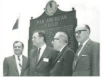 Claude Pepper and others at the dedication of new Pan American offices