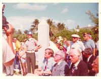 Claude Pepper attending a park dedication on Veterans' Day
