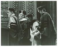 Claude Pepper receiving an Honorary Doctorate of Science Degree at the University of Miami