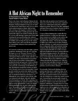 A Hot African Night to Remember