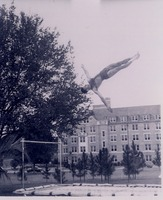 Dick Gutting Performing Trampoline Tricks on Landis Green on Florida State Campus