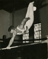 Joe Calvetti in Action on the High Bar