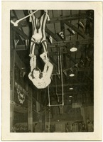 Barnes and Anne O'Quin on the Double Trapeze