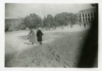Mary Ellerbe and A Friend Walking In the 1958 Snowfall
