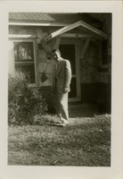 Giles O. Lofton in Suit in Front of Building