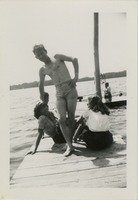Giles O. Lofton and Two Women at Camp Flastacowo