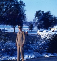 Cadet Don Pickett in the Snow