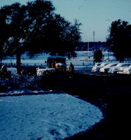 West Hall Parking Lot in the Snow