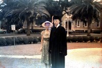 Don Pickett and a Woman at Commencement