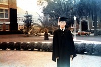 Don Pickett in Cap and Gown at Commencement