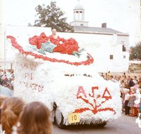 Alpha Gamma Delta Float in the Homecoming Parade
